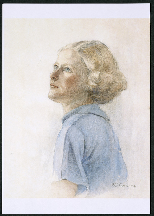 Portrait of Enga Margaret Washbourn by B D Gerard