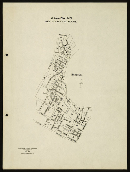 Block plans [cartographic material] : Wellington, May 1930.