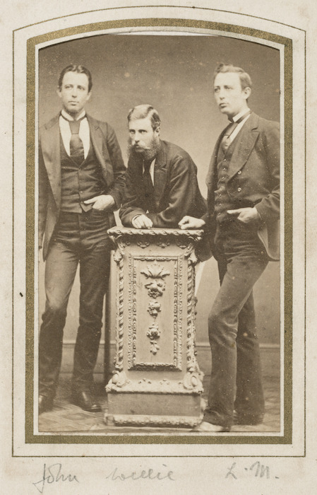 Brothers John, William, and Lawrence Grace - Photograph taken by G E Page