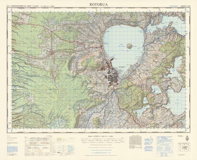 Map Of Rotorua New Zealand.Rotorua Electronic Resource Items National Library Of New Zealand