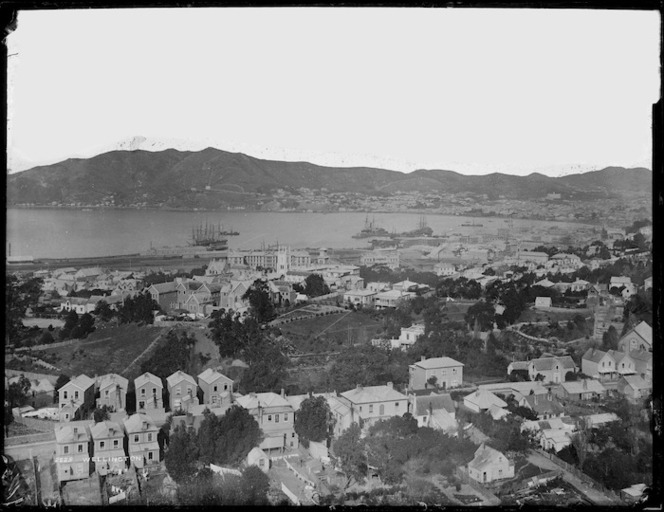 View of Thorndon, Wellington, looking towards the harbour