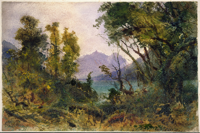 Hodgkins, William Mathew, 1833-1898 :Alabaster Lake. [188-]