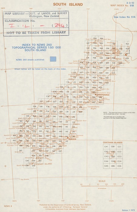 Index to NZMS 260 topographical serie    | Items | National Library