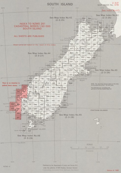 Index to NZMS 261 cadastral series 1:    | Items | National Library