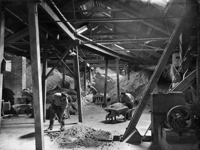 Interior view of Westfield Chemical Manure Works, Auckland