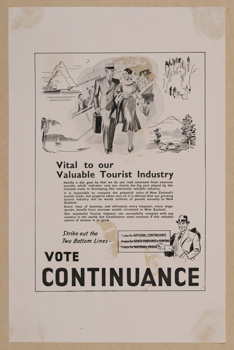 Vital to our valuable tourist industry. Strike out the two bottom lines - vote Continuance [1938]