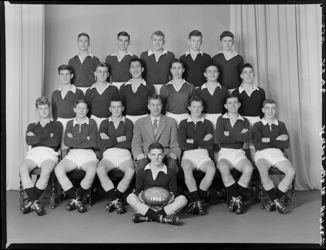 Wellington College 3A XV grade rugby team of 1958