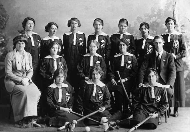 New Zealand Ladies' Hockey team that played England - Photographer unidentified