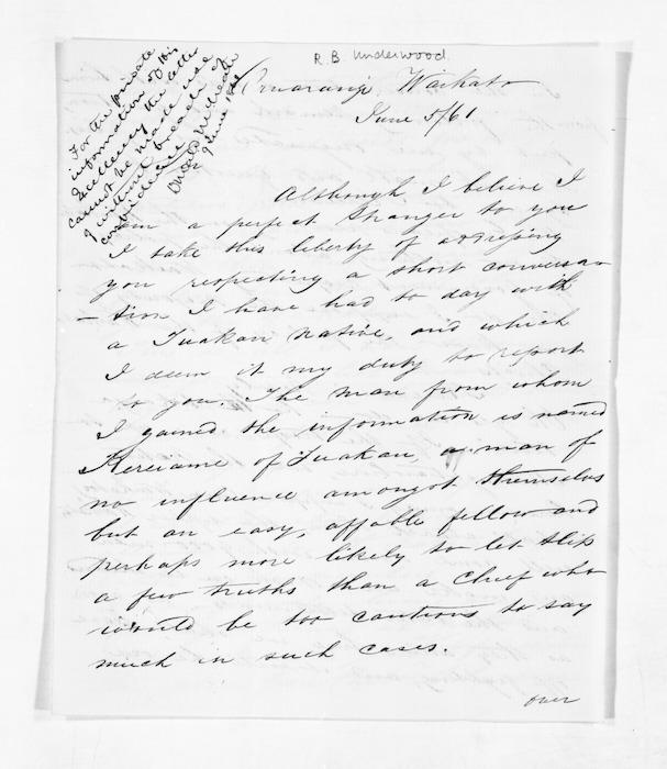 Inward letters - Surnames, Und - Viv