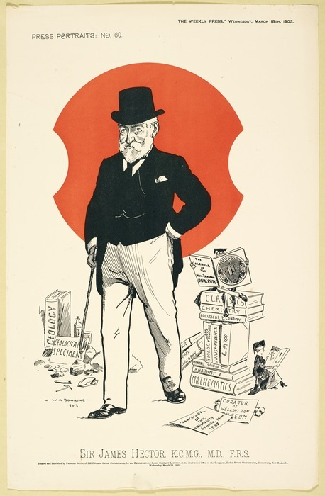 Bowring, Walter Armiger 1874-1931 :Sir James Hector, K C M G, M D, F R S - Christchurch ; Phineas Selig for the Christchurch Press Co. Ltd. 1903
