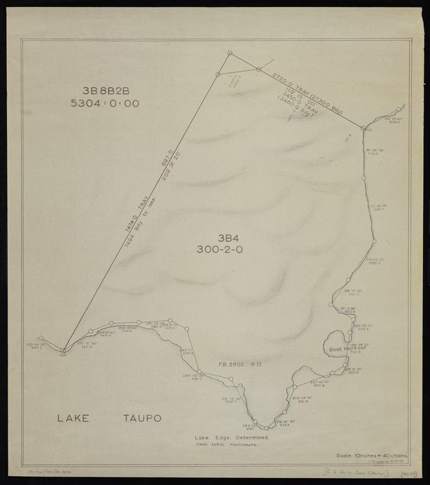 Te Kanawa, J, fl 1958 :[Kawakawa Point, Lake Taupo, Section 3B4] [copy of ms map]. J Tekanawa, 12.6.1958