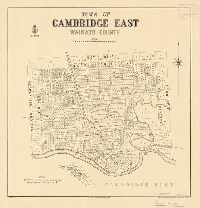 Town of Cambridge East, Waikato County [electronic resource].