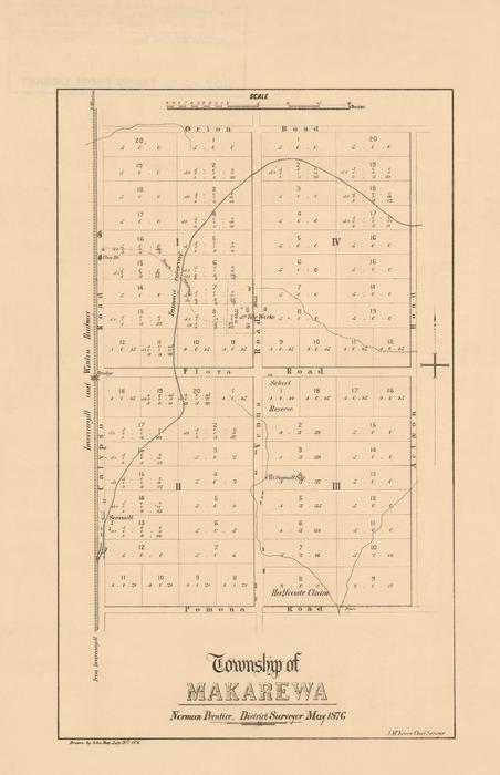 Township of Makarewa [electronic resource] / Norman Prentice, District Surveyor ; drawn by John Hay.
