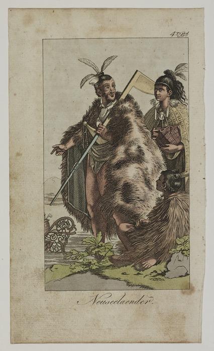 Artist unknown :Neuseelaender. 4r Bd. [After Sydney Parkinson and Piron. ca 1800]
