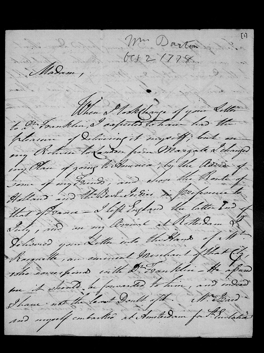 Letters to his family and other papers