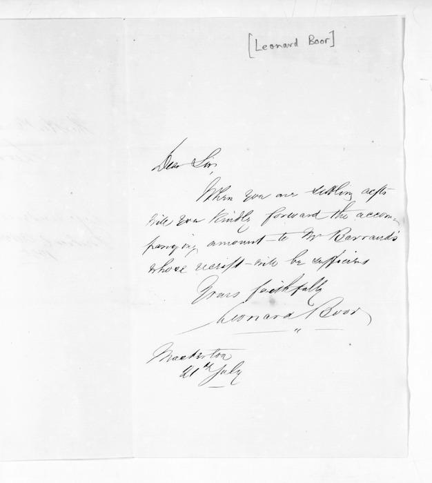 Inward letters - Surnames, Boo - Bor