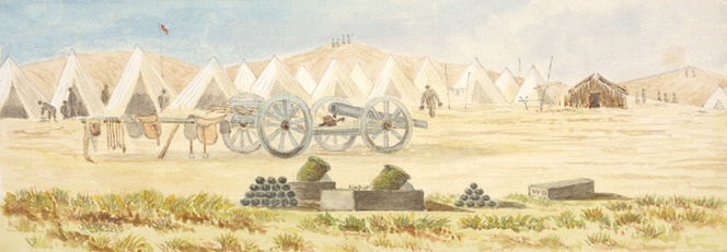 Hamley, Joseph Osbertus, 1820-1911 :Camp at Patea [1865]