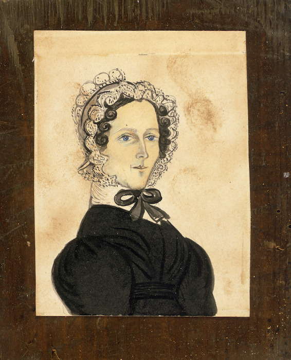 Artist unknown :[Portrait of Elizabeth, the wife of the Reverend Charles Pitman. 1830s-1850s].