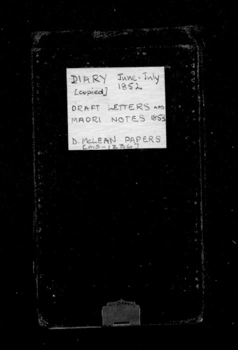 Diary, draft letters and Maori notes