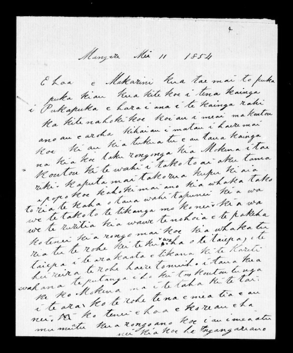 Letter from Te Wherowhero to McLean