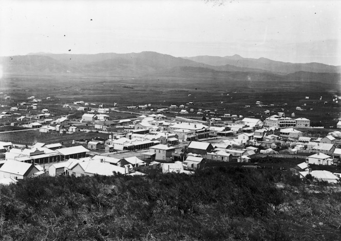 View looking over the township of Waihi