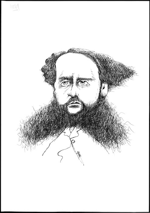 Winter, Mark, 1958- :Caricature of Frederick Weld, 1823-1891, drawn April 2003.