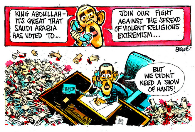 Evans, Malcolm Paul, 1945- :Saudis fight against religious extremism. 10 September 2014