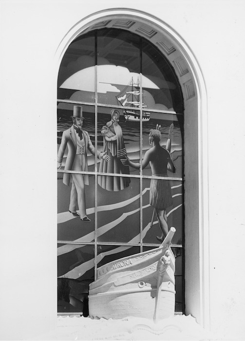 Stained glass window in the Wellington Provincial Centennial Memorial, Petone