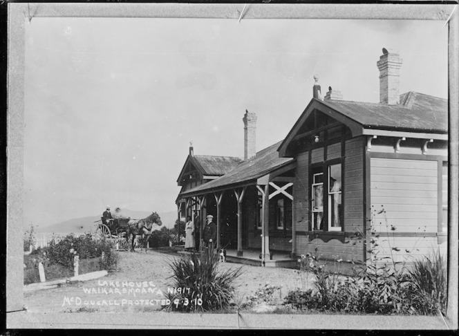 Lake House, Lake Waikaremoana - Photograph taken by John William McDougall