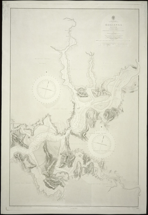 Hokianga River (upper part) [cartographic material] / surveyed by Commr. B Drury.