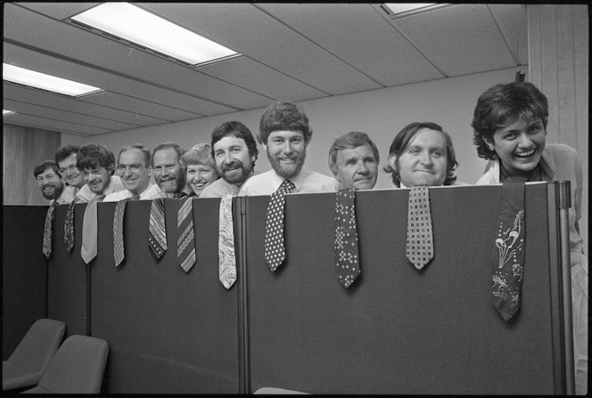 Ministry of Works and Development, Architects division, bad tie competition - Photograph taken by Ian Mackley