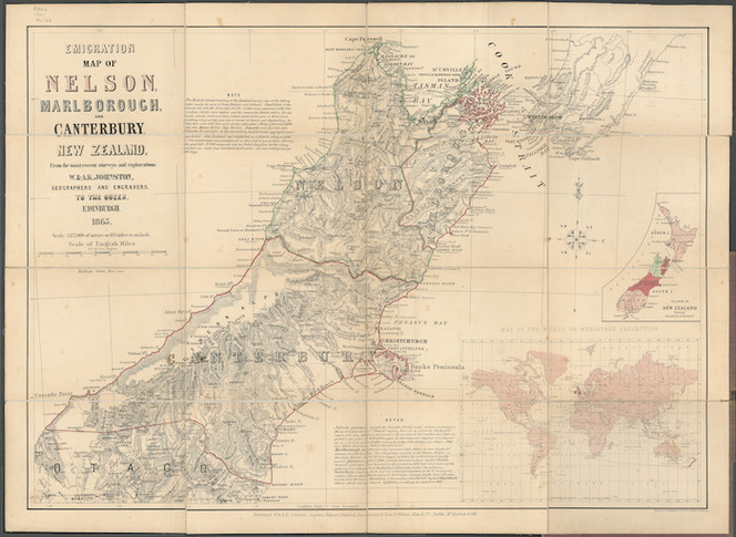 Map Nelson New Zealand.Emigration Map Of Nelson Marlborough Items National Library