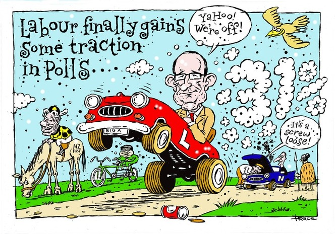 Hodgson, Trace, 1958- :Labour finally gains some traction in the polls. 28 March 2015