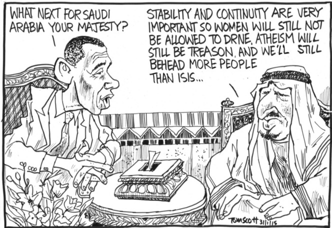 "Scott, Thomas, 1947- :""What next for Saudi Arabia your majesty?"" 31 January 2015"