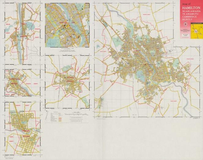 Hamilton Map New Zealand.Map Of Hamilton Ngaruawahia Te Awam Items National Library
