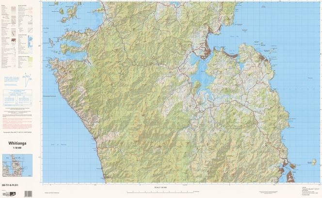 Topographic Map Of New Zealand.Whitianga Items National Library Of New Zealand