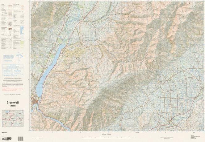 Map Of Cromwell New Zealand.Cromwell National Topographic Hydro Items National Library