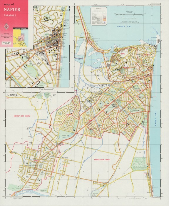 Napier New Zealand Map.Map Of Napier Taradale Items National Library Of New Zealand