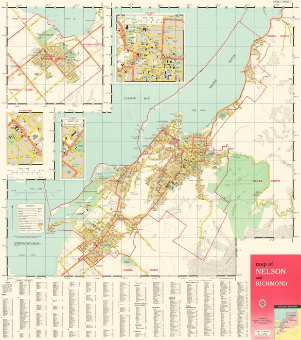 Map Nelson New Zealand.Map Of Nelson And Richmond Items National Library Of New Zealand