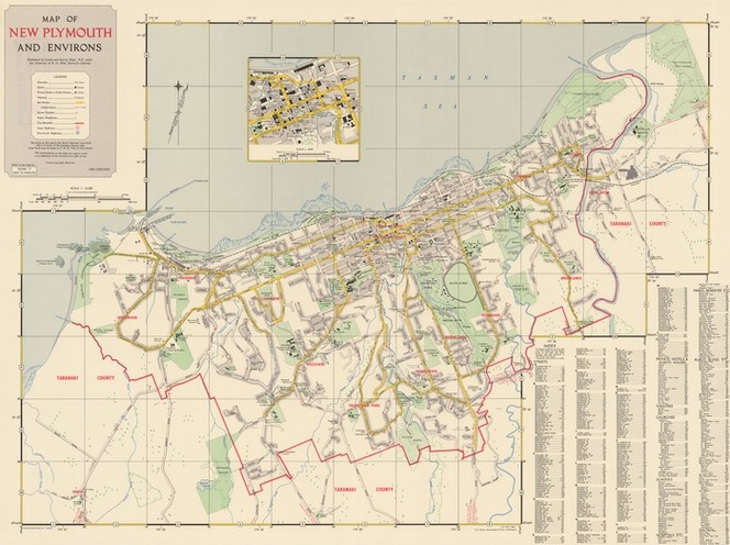 Where Is New Plymouth In New Zealand Map.Map Of New Plymouth And Environs Co Items National Library