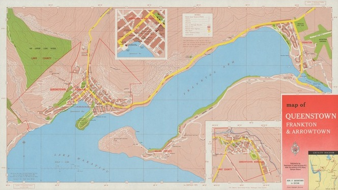 Queenstown Map on