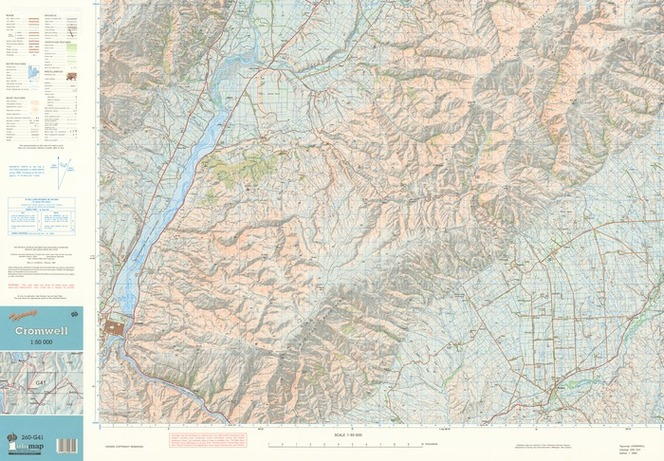 Map Of Cromwell New Zealand.Topomap Cromwell 1 50 000 Items National Library Of New Zealand