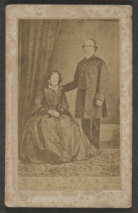 Photographer unidentified : Husband and wife, Reverend John Whiteley and Mary Ann Whiteley