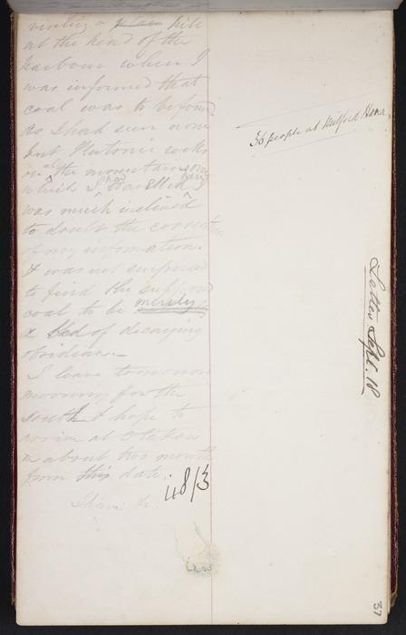 Mantell, Walter Baldock Durrant, 1820-1895 :Letter from Akaroa, Sept 21. [1848]