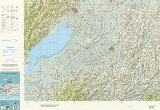 Wairarapa New Zealand Map.Lake Wairarapa Cartography By Terra Items National Library