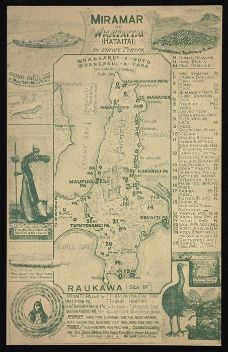 Hector McLeod & Co :Miramar or Whataitai (Hataitai) in Maori times. No 3. Miramar series. 1907. [Postcard].
