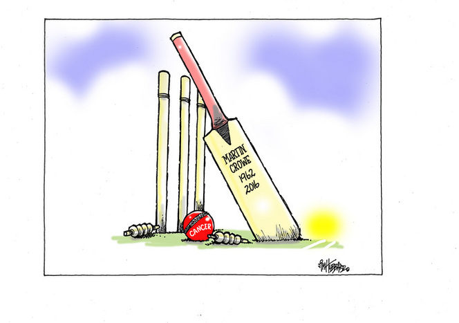 Martin Crowe bowled out by cancer
