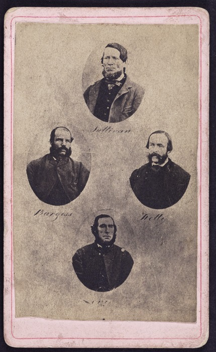 Group of photographs of Messrs Sullivan, Burgess, Kelly and Levy