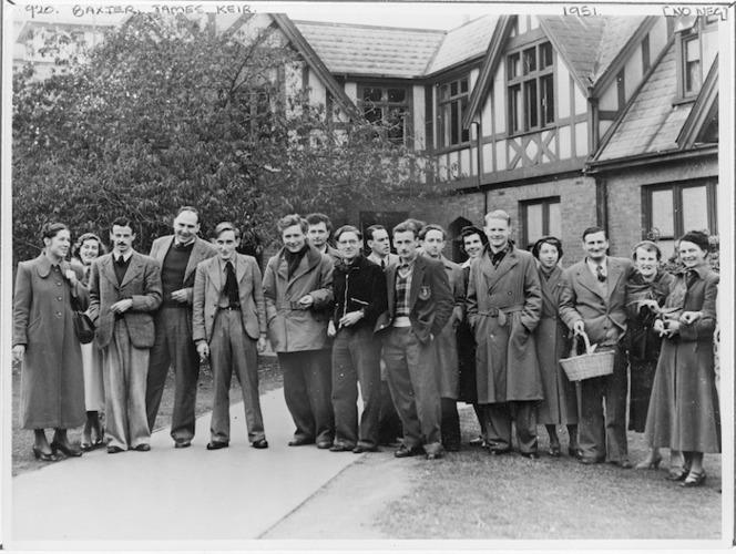 Group portrait showing James Keir Baxter