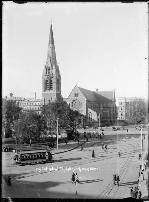 Cathedral Square, Christchurch - Photograph taken by F G R